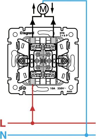 Схема подключения кнопочного