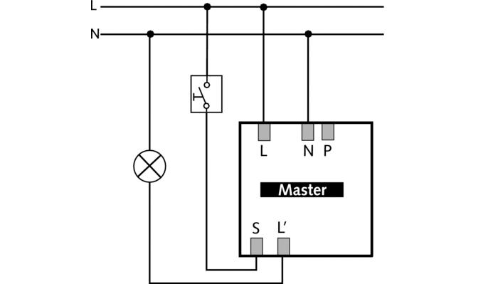 Схема подключения датчика присутствия thePrema 2070500.