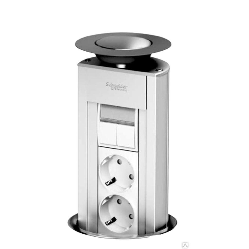 Розетки в пол (в стол) Schneider Electric
