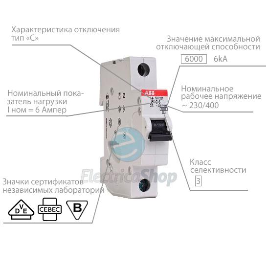 Розшифровка маркування автоматичних вимикачів