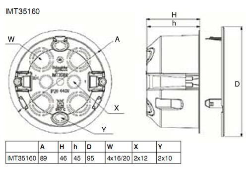IMT35160 Распределительная коробка для полых стен