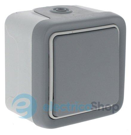 Переключатель однополюсный на 2 направления, цвет серый, Legrand Plexo 69711.