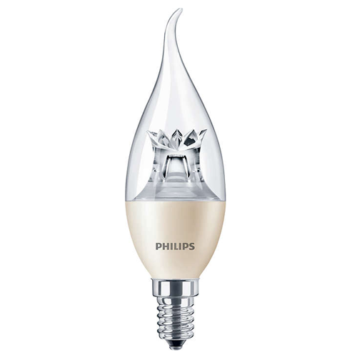 Светодиодная лампа Philips MASTER LEDcandle DT 6-40W E14 BA38 CL