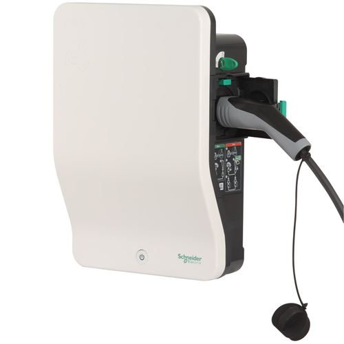 Зарядная станция EVlink Wallbox для дома, 3,7 кВт, 16 А, розетка T2 со шторкой Schneider Electric