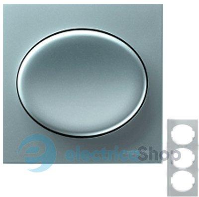 Рамка 3 пост серебристый белая вставка Schneider Electric MGU66.006.810