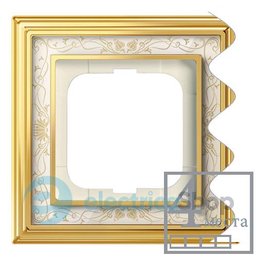 Рамка 1 пост полированная бронза ODACE S52P802L