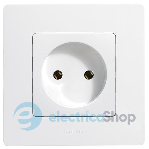 Розетка электрическая без заземления 672220 Legrand Etika белый ... a60cf73b549