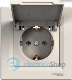 bcd4edb2a60d Розетки выключатели — Asfora. Schneider Electric - Кремовые розетки ...