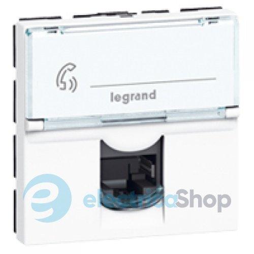 Розетка телефонная RJ-11 и Ethernet RJ-45 шампань рифленая WL10-RJ11-45 4690389085222